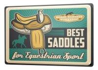 Tin Sign XXL Sports Saddle Horse