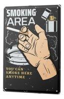 Tin Sign XXL Bar Restaurant Smoking Area