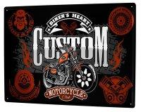 Tin Sign XXL Nostalgic Motorcycle Custom