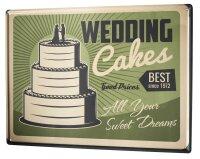 Tin Sign XXL Wedding Wedding cake