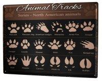 Tin Sign XXL Ravtive Vet Practice Animal Tracks