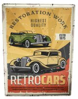 Tin Sign XXL Vintage Car Vintage Retro Car
