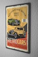 Tin Sign XXL Vintage Car Vintage Retro Car