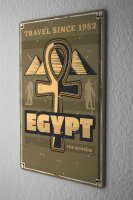 Tin Sign XXL Ancient Egypt Pyramid Egypt Pyramid Desert...