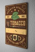 Tin Sign XXL Tobacco Tobacco Pipe