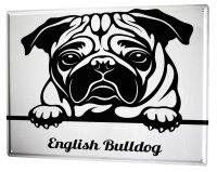 Tin Sign XXL Ravtive Vet Practice Bulldog
