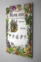 Tin Sign XXL Kitchen Herbs