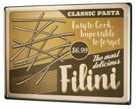 Tin Sign XXL Kitchen Noodles Filini
