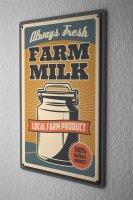 Tin Sign XXL Kitchen Organic Farmers Milk