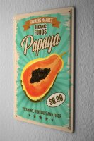 Tin Sign XXL Kitchen Ppaya Fruits