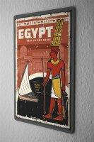 Tin Sign XXL Pharaoh Sun God Pharaoh Hieroglyphics...