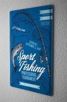 Tin Sign XXL Coastal Marine Sport Fishing Tour