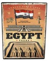 Tin Sign XXL Pharaoh Sun God Holiday Tour Excursion...