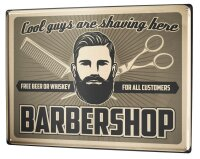 Tin Sign XXL Nostalgic Professional Barbershop
