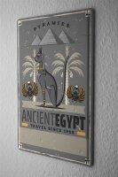 Tin Sign XXL Pharaoh Sun God Pyramid Egypt Archaeology...