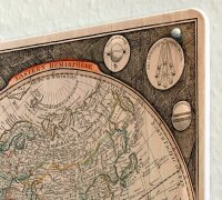 Tin Sign XXL Holiday Travel Agency old world map