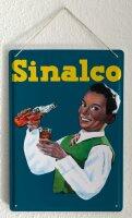 Blechschild Abenteurer Sinalco Junge