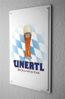 Tin Sign Weissbierbrauerei Unertl The finest beer on...
