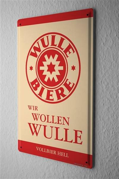 Blechschild Dinkelbräu Dinkel Acker Wir wollen Wulle Bier Vollbier Starkbier Hell Pils Weizen Alt Werbung n rot 20x30 cm