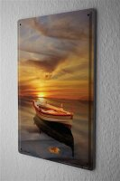 Tin Sign Feng Shui Picture boat sunset