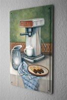 Tin Sign Coffee Cafe Bar Coffee and pastries milk jug