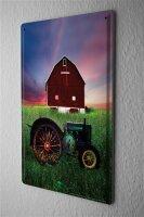 Blechschild Nostalgie Traktor Nostalgie Traktor Scheune