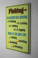 Tin Sign Coastal Marine skill fishing