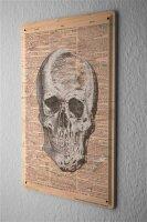 Tin Sign Practice skull