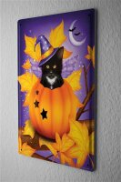 Tin Sign Fun Ravtive Cat pumpkin wings