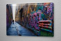 Tin Sign Feng Shui Houses Grafitti Man Metal Plate...