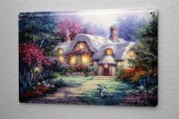 Tin Sign Fairy Tale Fun Fairy Tale House in the forest