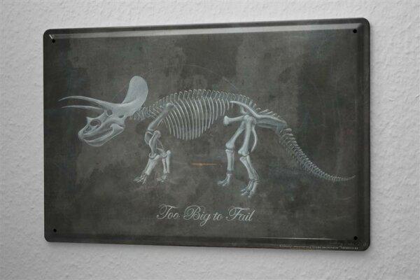 Tin Sign Cretaceous Archaeology Dino skeleton