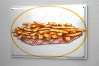 Tin Sign Kitchen French fries