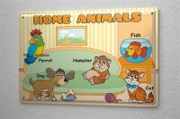 Tin Sign Pets Hamster in English parrot fish cat dog...