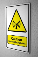 Blechschild  Warnschild Caution Non-Ionising Radiation...