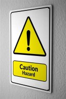 Tin Sign Warning Sign Caution Hazard exclamation point...