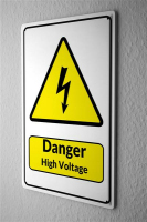 Blechschild  Warnschild Danger High Voltage Blitz Symbol...