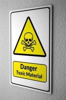 Tin Sign Warning Sign Danger Toxic material skull symbol...