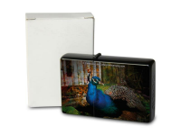 Pocket Windproof Lighter Brushed Oil Refillable Peacock...