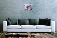 Blechschild Galerie Maler Franz Heigl Bild Collage Hamburg Container Schiff M?we 20x30 cm