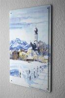 Tin Sign Gallery painter Franz Heigl Picture village...