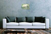 Blechschild Galerie Maler Franz Heigl Bild Italien Haus gr?n Garten 20x30 cm