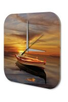 Wall Clock Feng Shui Picture boat sunset Decorative...
