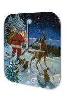 Wall Clock Santa Claus Santa Claus gifts animals Printed...