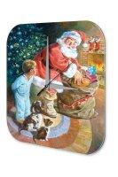 Wall Clock Santa Claus Nicholas Young Christmas Printed...