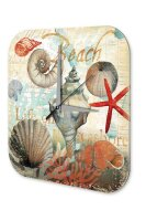 Wall Clock Nursery Decoration Shells starfish Sayings...