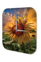 Wall Clock Plants Decoration Sunflower field sunflower...
