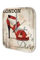 Sexy Fun Decorative Wall Clock red high heels London...