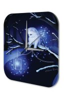 Wall Clock Fantasy Gothic Cat snowflakes wing Decorative...