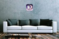 Fun Decorative Wall Clock Cat crescent wing Printed Acryl...